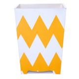 Zig Zag Moderne Waste Paper Bin - front view