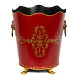 Rococo Red  Waste Paper Bin - front view