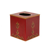 Rococo Cube / Square Tissue Cover - Red