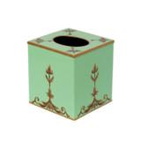 Rococo Cube / Square Tissue Cover - Mint Green
