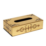 Royal Rococo Rectangle Tissue Holder - in Gold Leaf