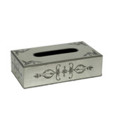 Royal Rococo Rectangle Tissue Holder - in Silver Leaf