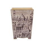 Neoclassical  Waste Paper Bin (wooden)