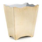 Brushed Bronze Waste Paper Basket - side view