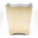 Brushed Bronze Leaf Florentine Waste Paper Bin (wood)