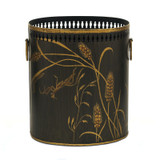 Dragonfly Waste Paper Bin - Charcoal / Brown
