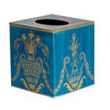Cyan Blue Festoon Tissue Box Cover