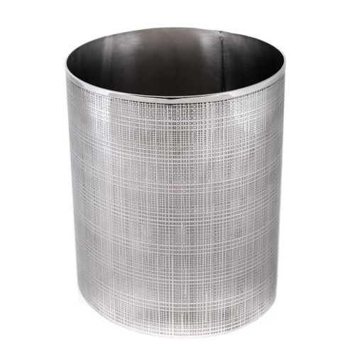 Stainless Steel Etched Waste Paper Bin - round