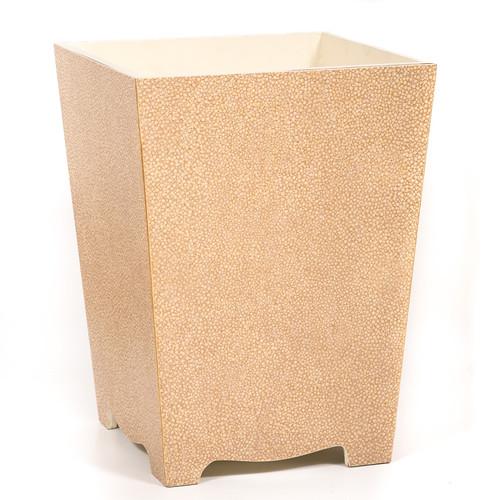 Sand Galuchat Waste Paper Bin - side