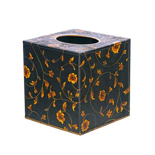 Scroll Cube Tissue Cover - Black