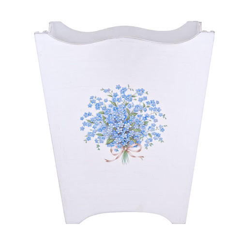 Forget-Me-Not Waste Paper Bin - Blue