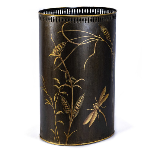 Charcoal Dragonfly Umbrella Stand - side view