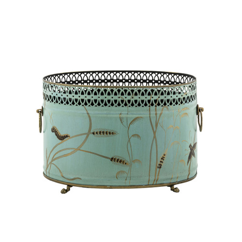 Dragonfly Oval Cache Planter