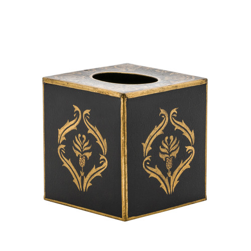Black Lattice Tissue Box