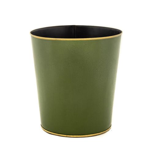 Green Round Tapered Waste Paper Bin