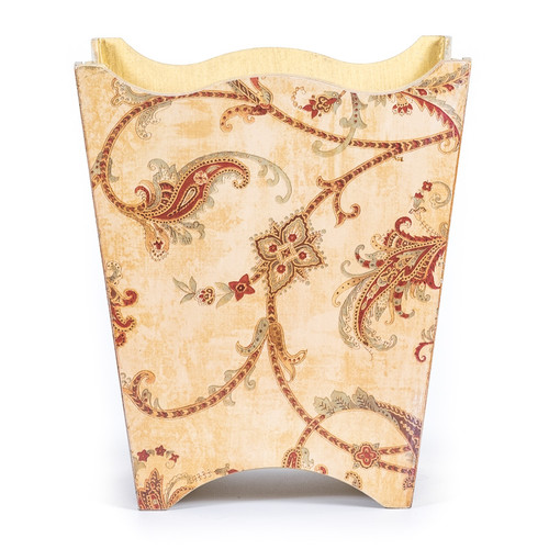 Paisley WastePaper Basket - front view