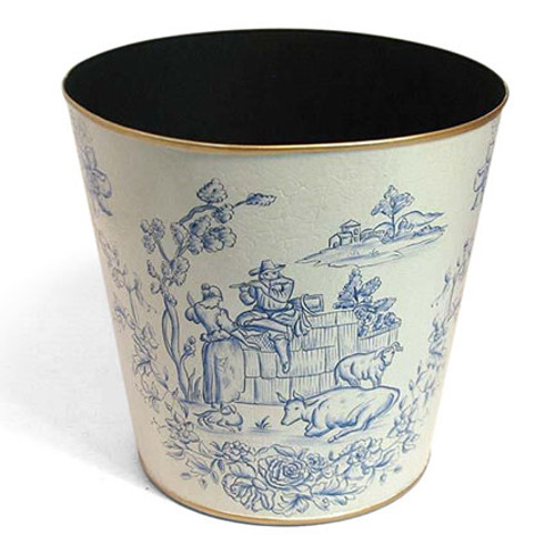 Toile de Jouy Blue and White Countryside Design