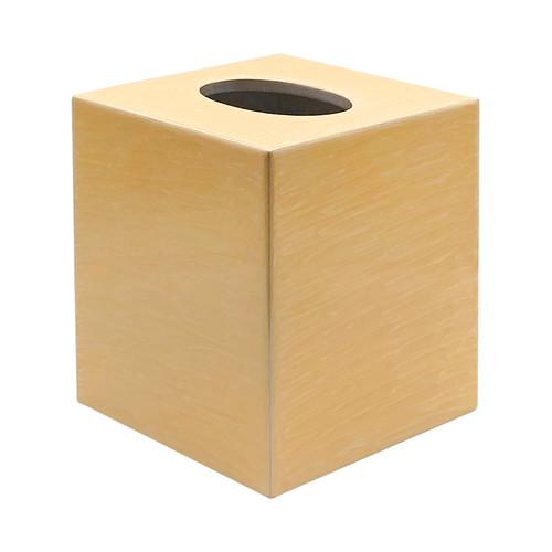Enamel Cube Tissue Cover in Streak Effect Yellow