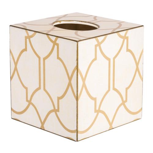 Lattice Tissue Box Cover (Wood)