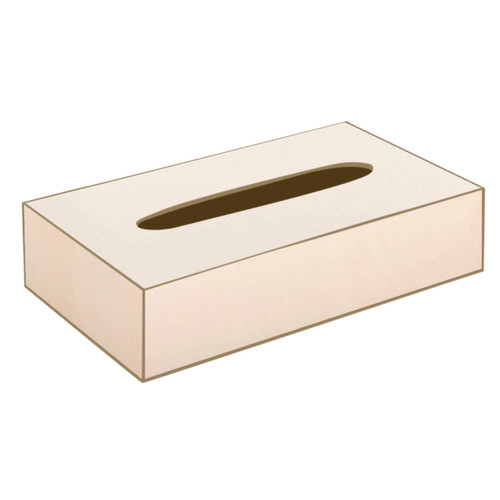 Ivory Rectangle Tissue Box (with sliding base)