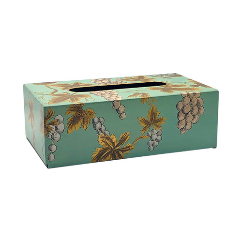 Teal Grapevine Rectangle Tissue