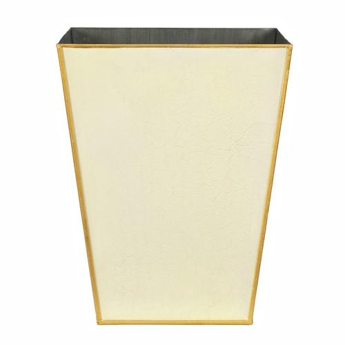 Plain Pastel Waste Paper Bin - Ivory