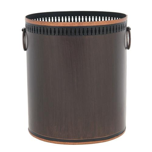 Russet Waste Paper Bin - Dark brown