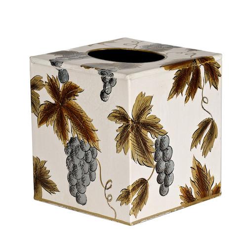 Ivory Grapevine Tissue Box Cover