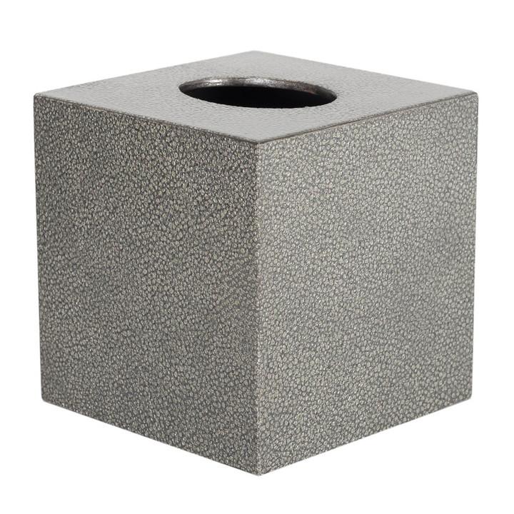 Pewter Galuchat Square Tissue