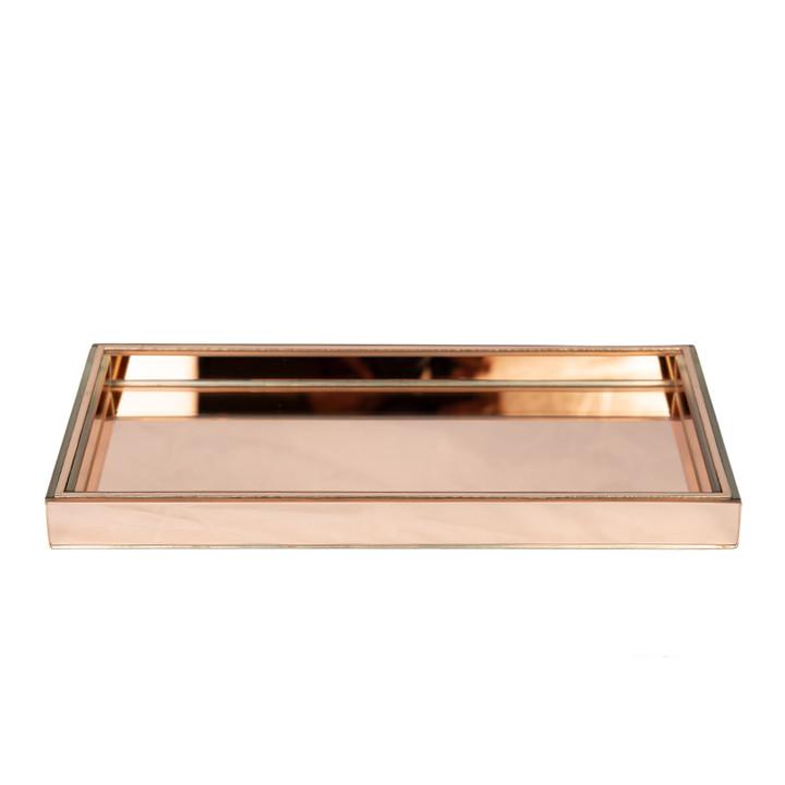 Rose Gold Mirror Perfume Tray