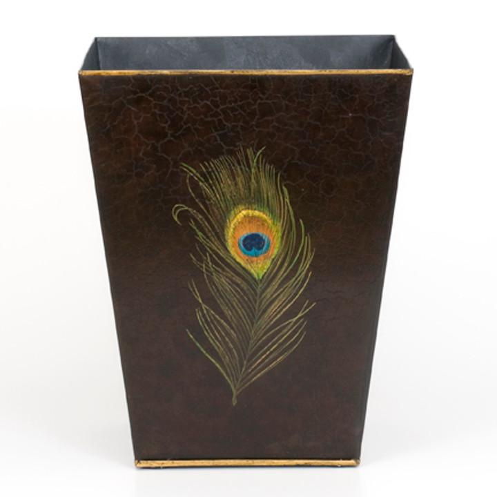 Peacock Waste Paper Bin - Charcoal