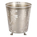 Nickel Cherry Waste Paper Bin - Round with feet.