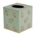Eastern Swirl Tissue Box Cover  - Jade Green