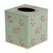 Eastern Swirl Tissue Box Cover  - Jade Green
