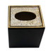 Black and Gold Enamel Tissue with Crystal Top - top