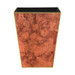 Rosewood Paint Effect Waste Paper Bin - front view