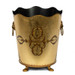 Rococo Gold Leaf Waste Paper Bin - front view