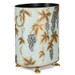 Teal Grapevine Waste Paper Bin (side view)