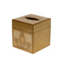 Gold and Ivory Florentine Square Tissue Box Cover
