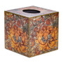 Orange Vine Tissue Box Cover (wooden)