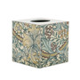 Teal Vine Tissue Box Cover (wooden)