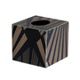 Square Tissue  Gatsby with Gold Trim