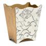 Open Scroll Waste Paper Bin- side view
