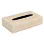 Rectangle Galuchat Tissue Cover - Stone