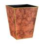 Rosewood Paint Effect Waste Paper Bin - side view