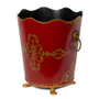 Rococo Red  Waste Paper Bin - side view