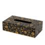 Scroll Rectangle Tissue Box / Holder - Black