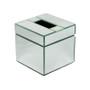 Clear Glass Cube Tissue Box