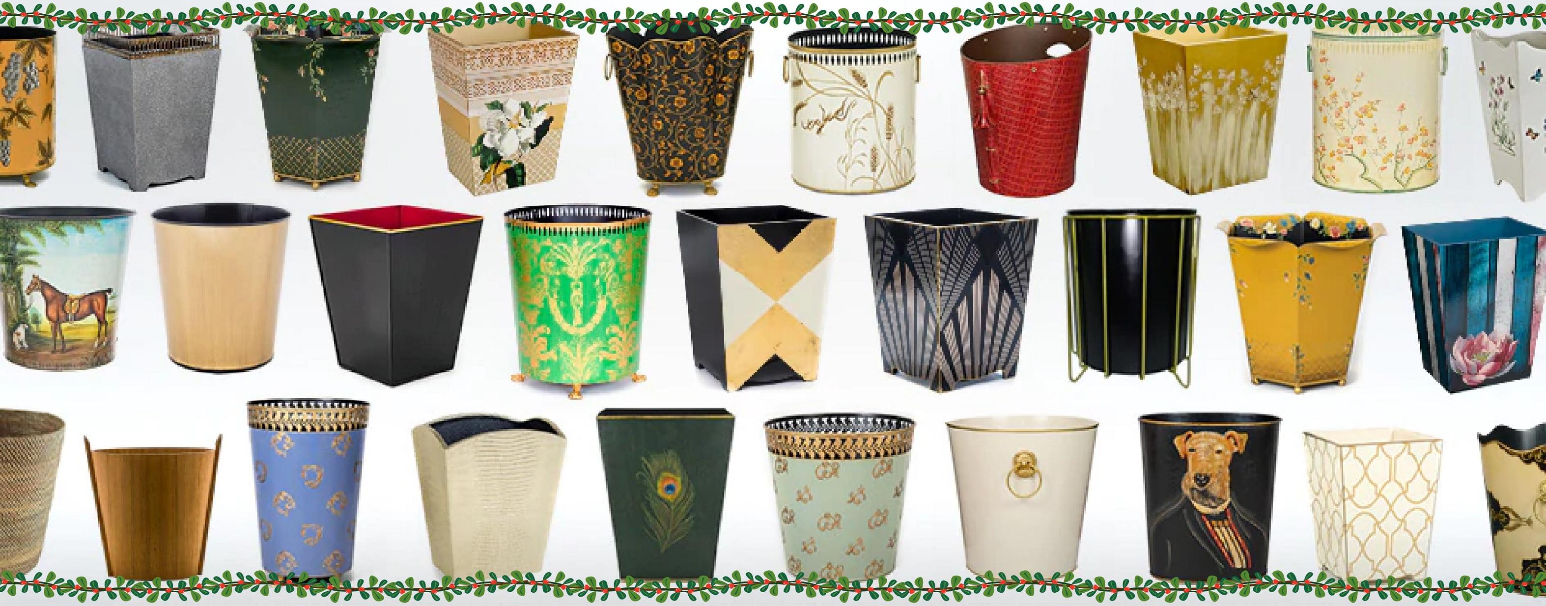 Pretty Decorative Luxury Waste Paper Bins Baskets Trash Cans (metal, wood, rattan)     Must Have Bins