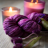 Grape Harvest Hand Dyed Worsted yarn 2